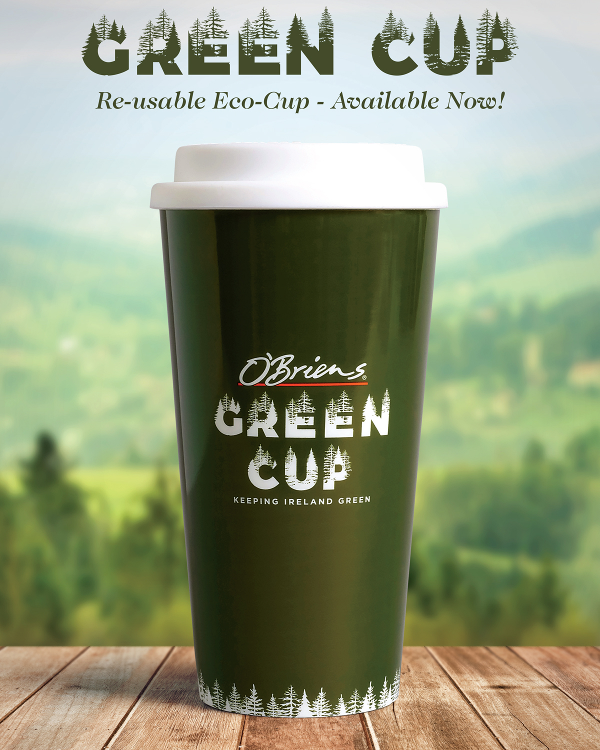 O'Briens Green Re-Usable Cup
